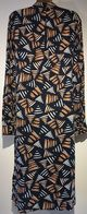 LONG TALL SALLY NAVY ABSRACT PRINTED SHIRT DRESS BNWT SIZES UK 10 12 14 16 18 20 22 RRP £60